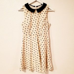 One Clothing Ribbon Print Sleeveless Midi Dress